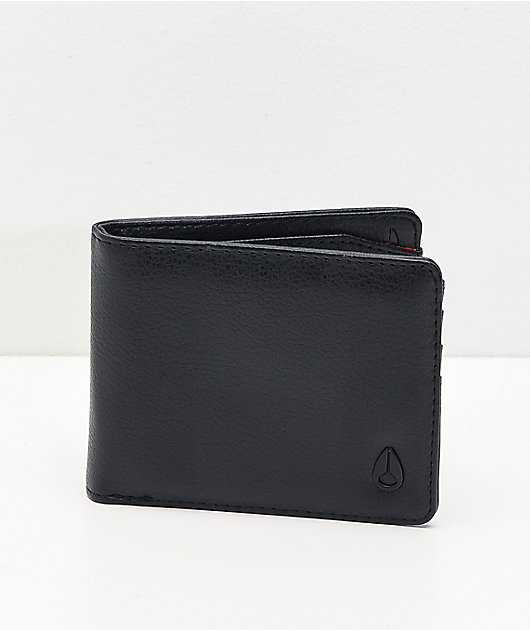 Nixon Cape Vegan Leather Black Bifold Wallet