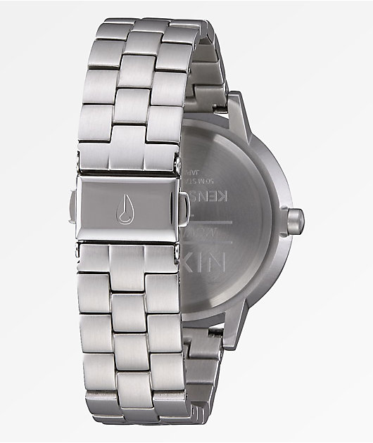 Nixon Kensington Silver & Pale Pink Analog Watch