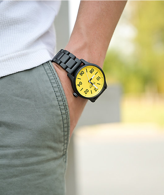 Nixon Patrol Black & Yellow Analog Watch
