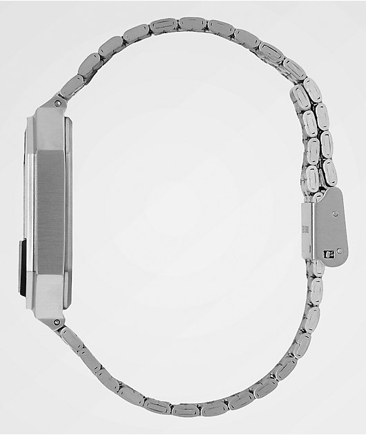 Nixon Re-Run Black & Silver Digital Watch