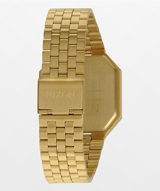 Nixon Re-Run Gold Digital Watch