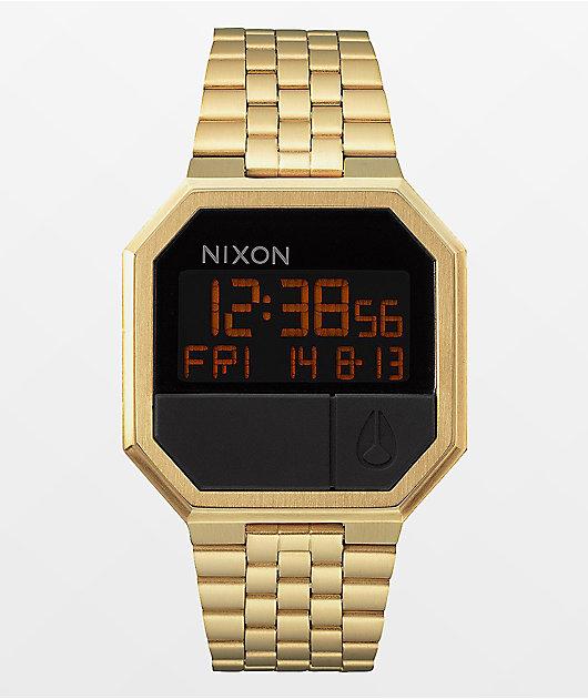 Nixon Re-Run reloj digital en color oro