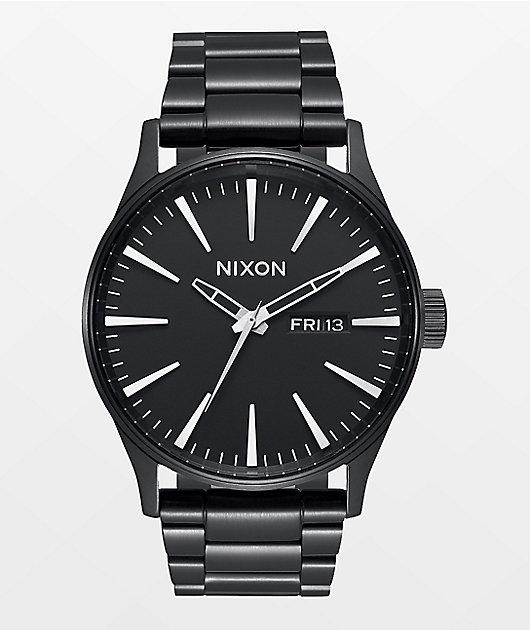 Nixon Sentry SS All Black Analog Watch