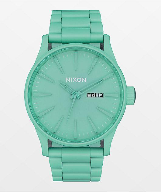 Nixon Sentry SS Mint Analog Watch