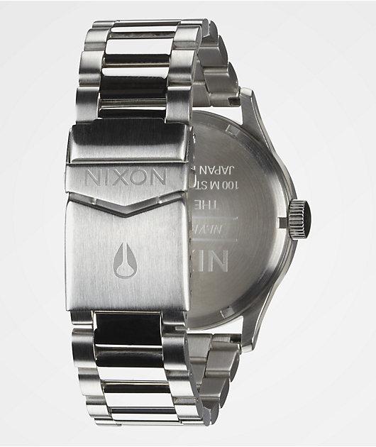 Nixon Sentry SS reloj analógico en colores plata y azul