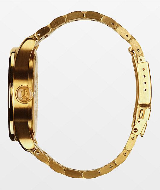Nixon Sentry SS reloj analógico todo oro