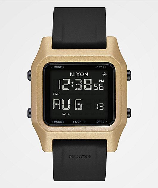 Nixon Staple Black & Gold Digital Watch