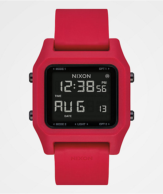 Nixon Staple Red Digital Watch