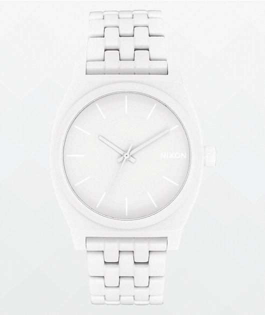 Nixon Time Teller All White Analog Watch