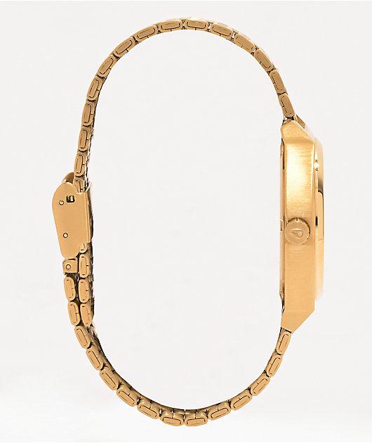 Nixon Time Teller Gold & Red Analog Watch