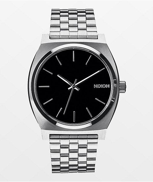 Nixon Time Teller Silver & Black Analog Watch