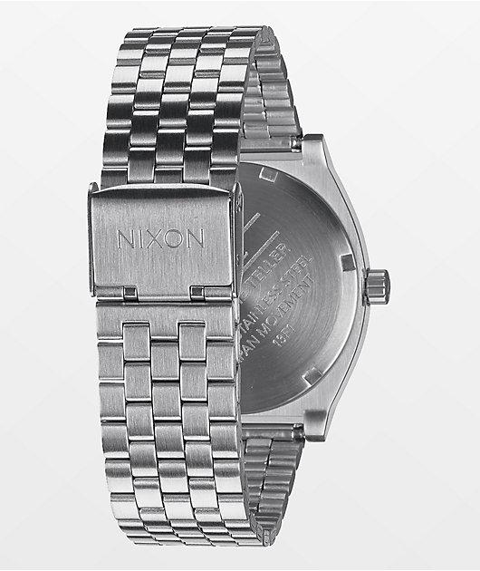 Nixon Time Teller Silver Analog Watch