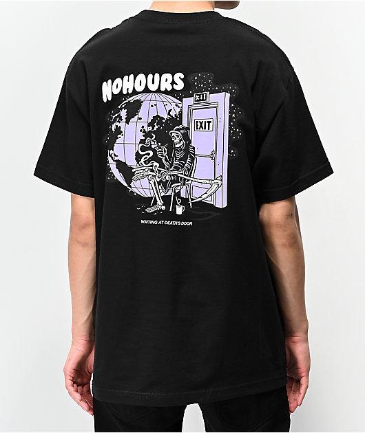 NoHours Death's Door Black T-Shirt