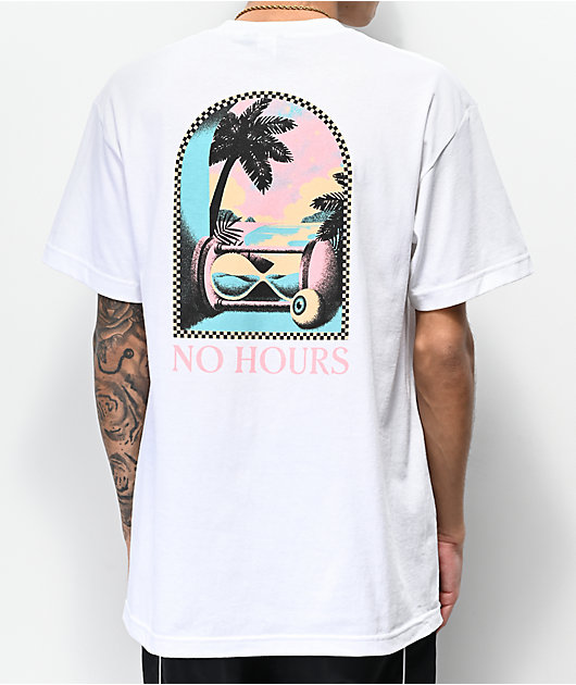 NoHours Hourglass White T-Shirt