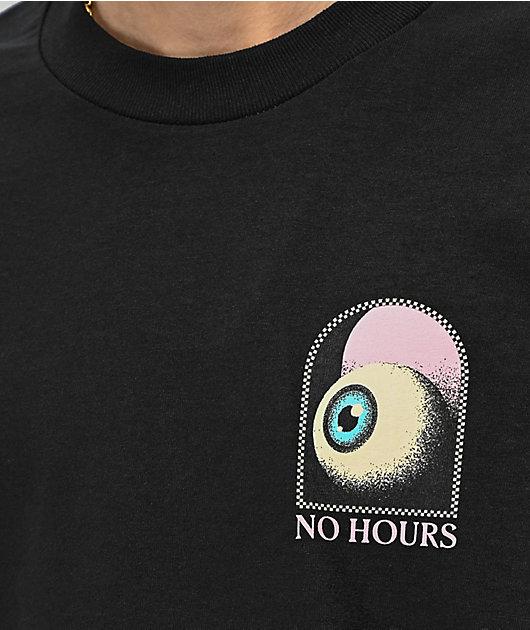 NoHours Hourglass camiseta negra