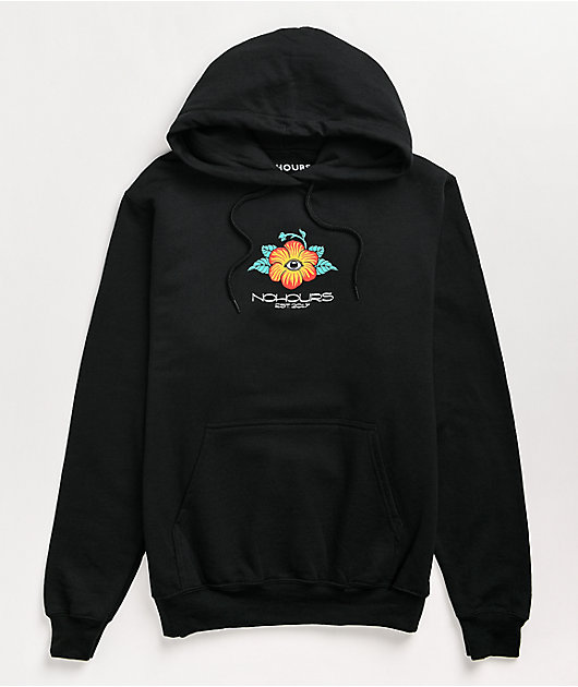 NoHours Inside Out Black Hoodie