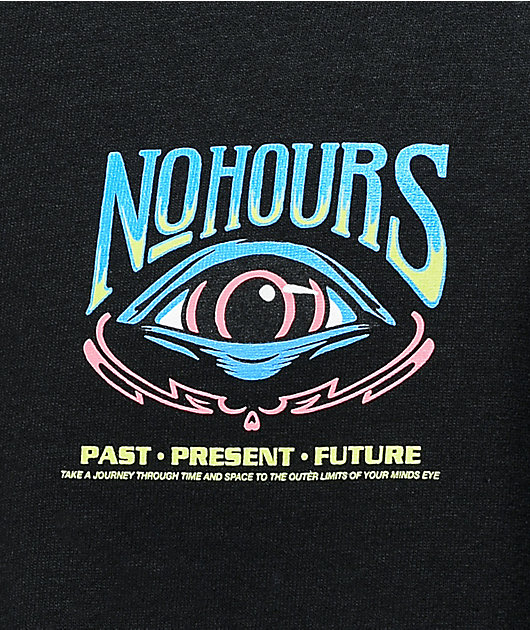 NoHours Past Future Black T-Shirt