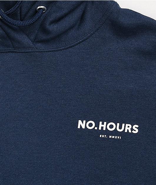 NoHours Shroom Navy Hoodie