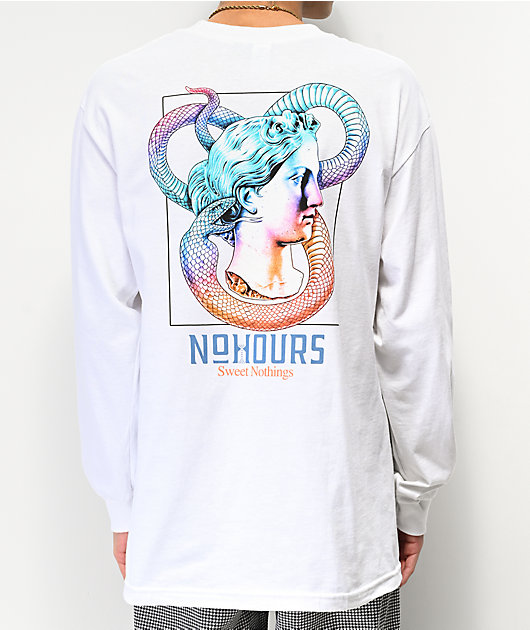 NoHours Sweet Nothings White Long Sleeve T-Shirt
