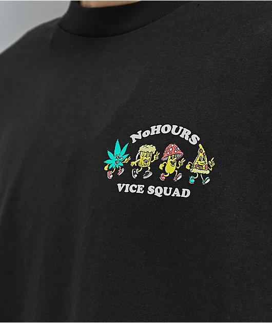NoHours Vice Squad Black Long Sleeve T-Shirt