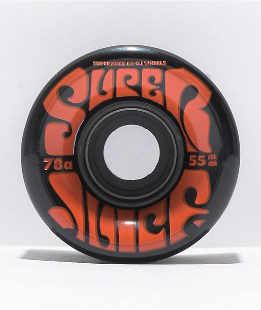 OJ Super Juice 55mm 78a Black Mini Cruiser Wheels