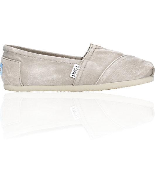 ON SALE Toms Classics Grey Stone Wash