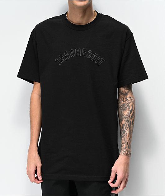 ONSOMESHIT Arch Logo Black T-Shirt