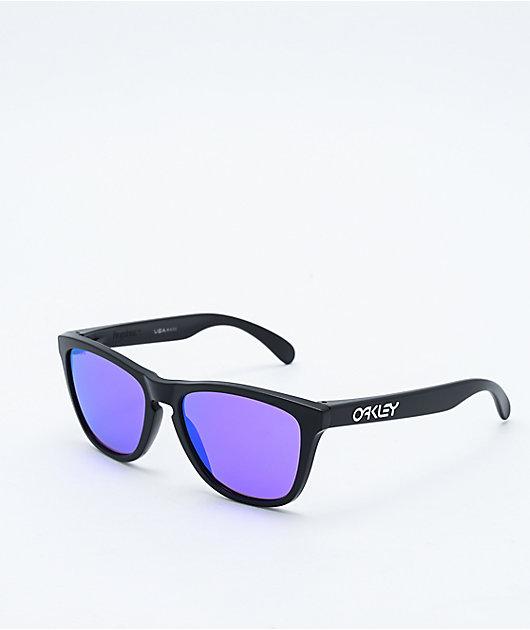 Oakley Frogskins Black & Prizm Violet Sunglasses
