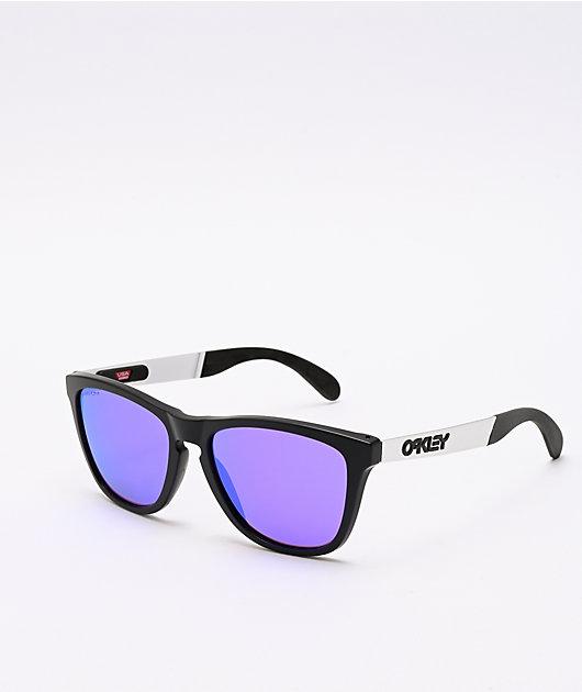 Oakley Frogskins Mix Prizm gafas de sol negras y violetas