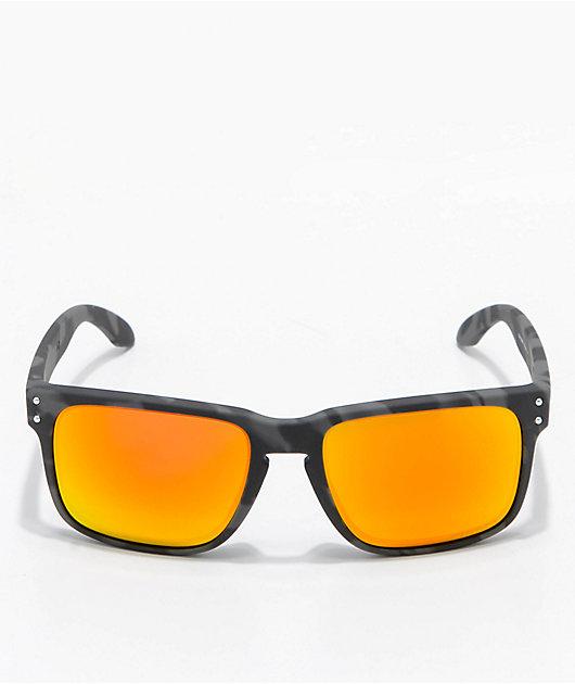 Oakley Holbrook Black Camo & Prizm Ruby Sunglasses