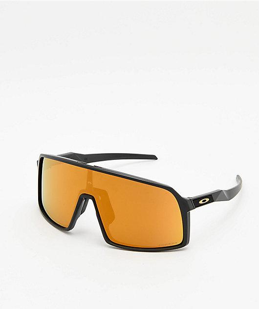 Oakley Sutro Matte Carbon Grey & Bronze Prizm 24k Sunglasses