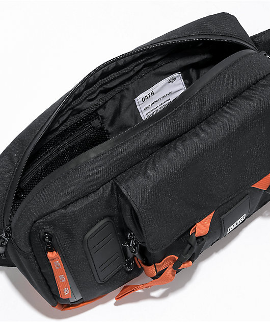 Oath Link Black & Orange Sling Bag