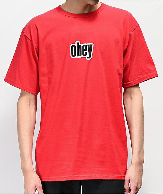 Obey 1990 camiseta roja