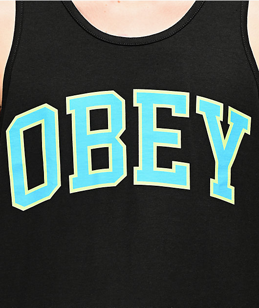 Obey Academic Black Tank Top