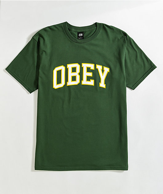 Obey Academic Green T-Shirt