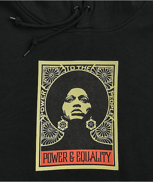 Obey Afrocentric Black Hoodie