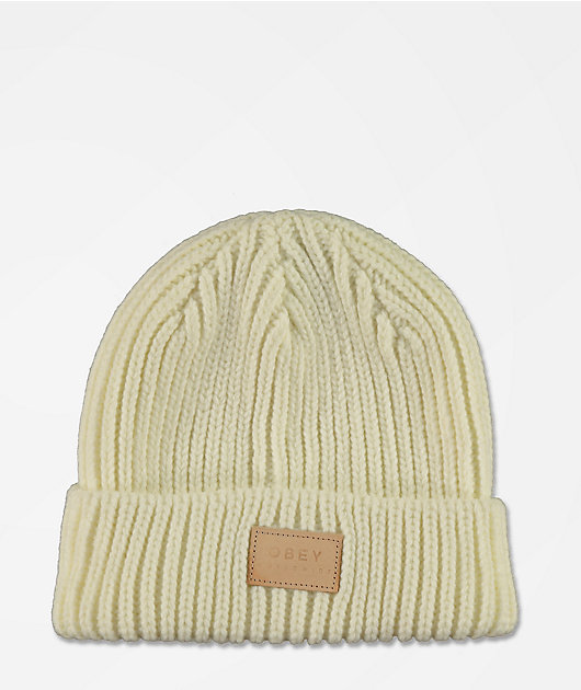 Obey Afterlife White Beanie