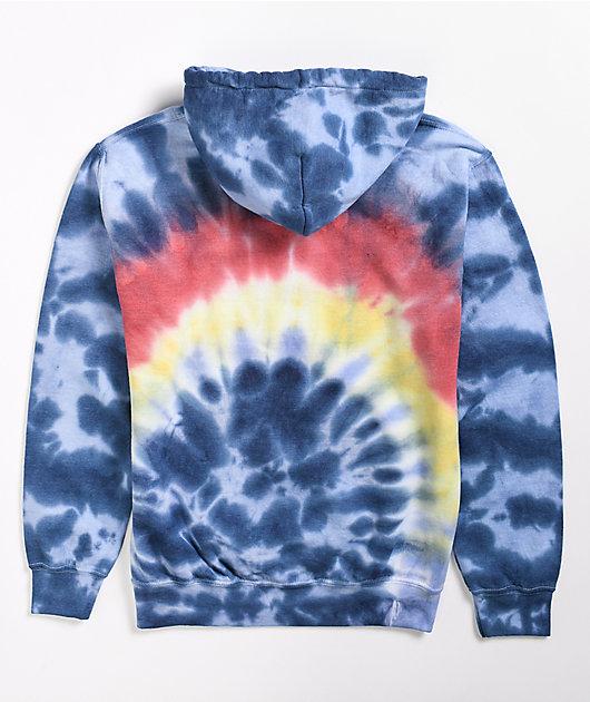 Obey Arch Rainbow Cloud Dye Hoodie