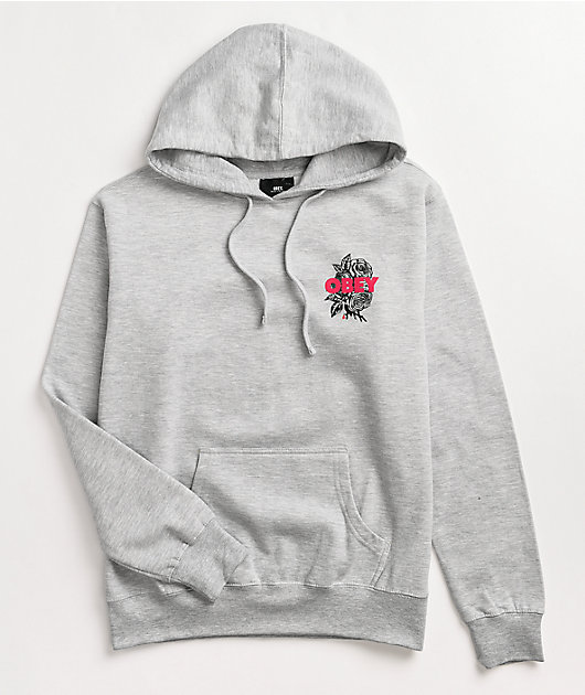 Obey Blood Heather Grey Hoodie