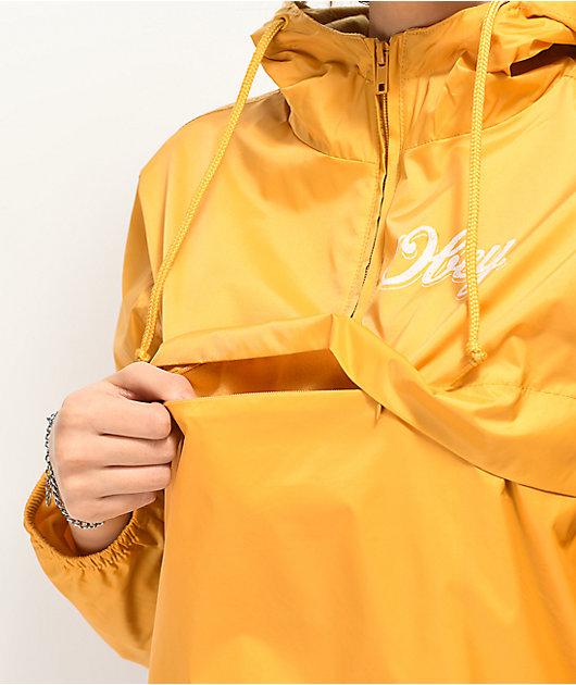 Obey Careless Whispers Yellow Windbreaker Jacket