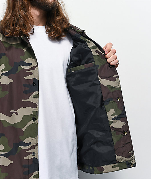 Obey Core Camo Coaches Jacket