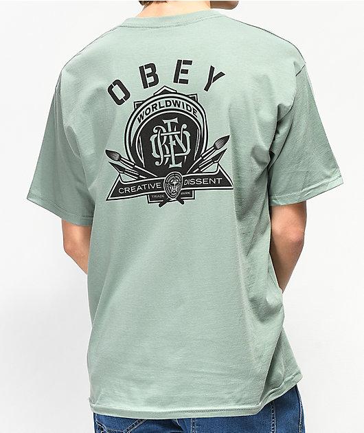Obey Creative Dissent camiseta verde salvia