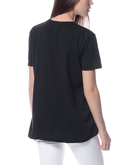 Obey Distressed Dewallen Black T-Shirt