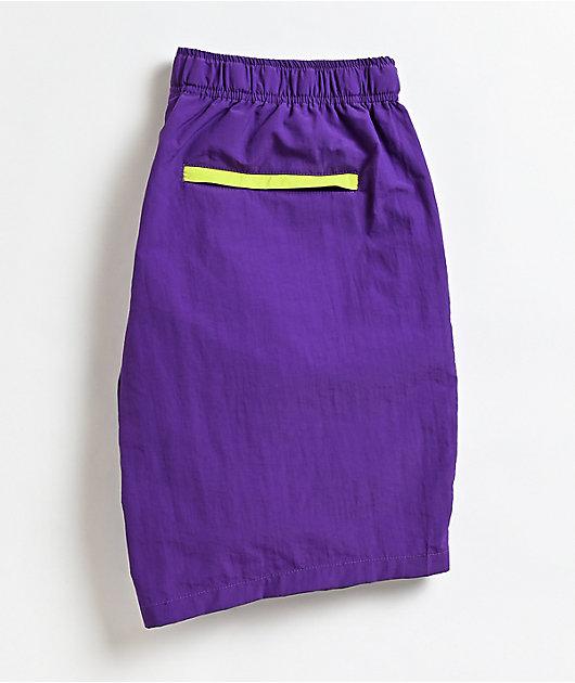 Obey Easy Trek shorts morados de cintura elástica