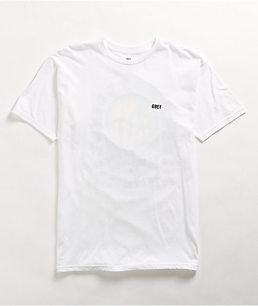 Obey End Hate White T-Shirt