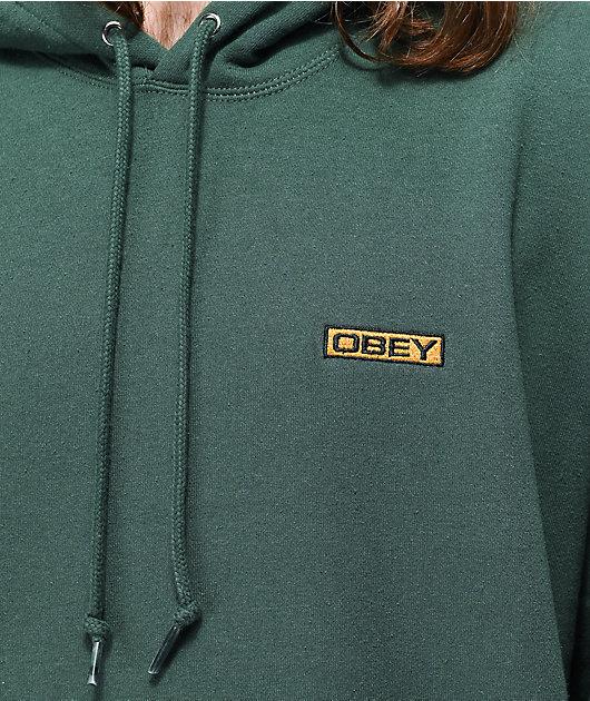Obey Enigma Dark Green Hoodie