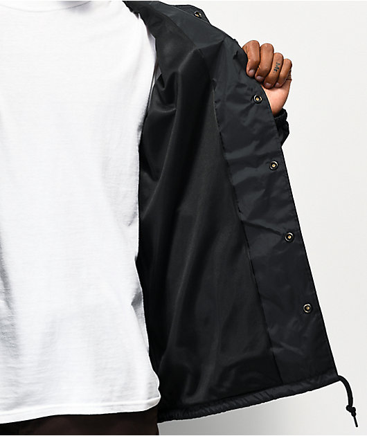 Obey Eyes Icon Black Coaches Jacket