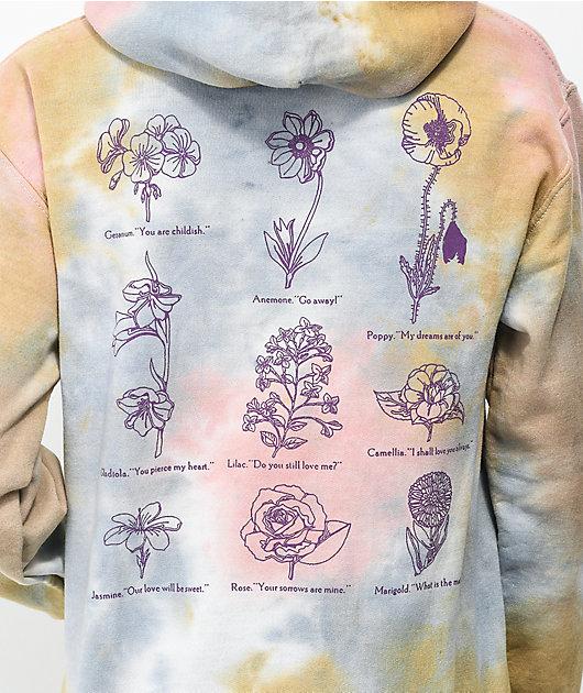 Obey Flower Packet Tie Dye Hoodie