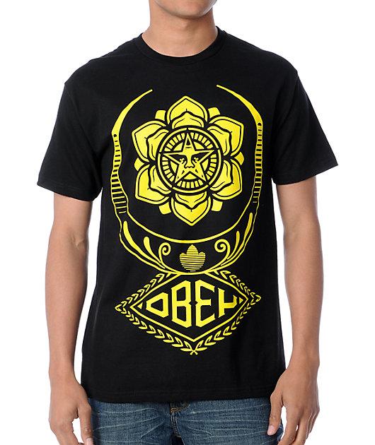 Obey Flying Lotus Black T-Shirt