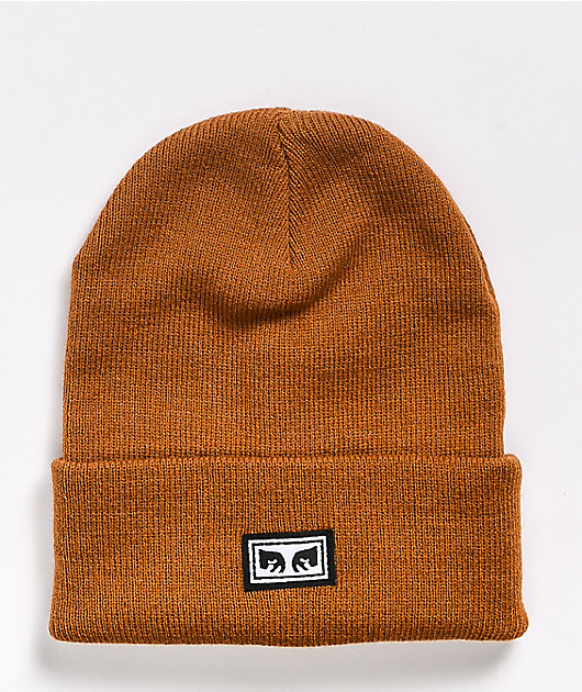 Obey Icon Eyes Tapenade Brown Beanie
